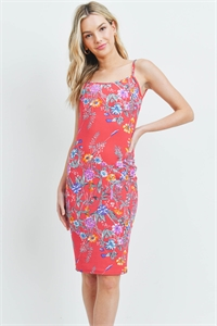 C26-A-1-D5016 FUCHSIA FLORAL DRESS 2-2-2