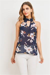 S14-12-4-T1205 NAVY FLORAL TOP 2-2-2