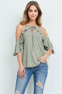C22-A-3-T5651 LIGHT OLIVE TOP 2-2-2