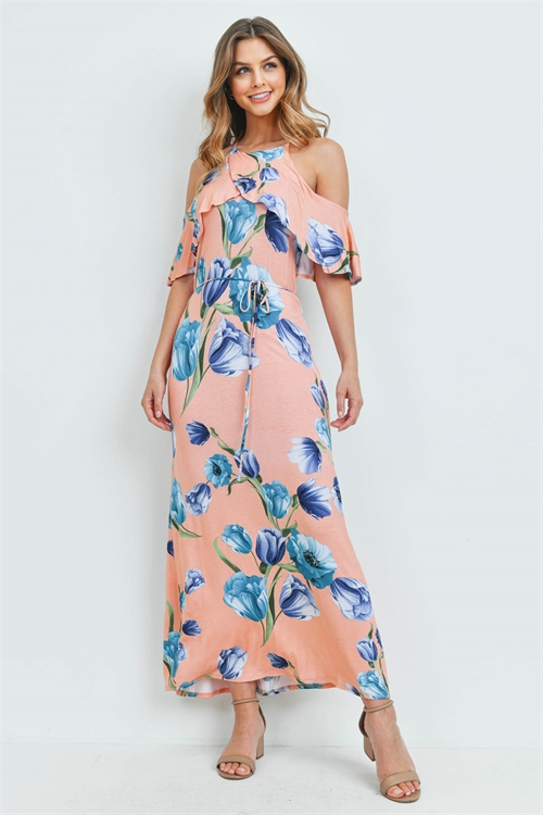 C32-A-2-D5410 PEACH BLUE DRESS 2-2-2