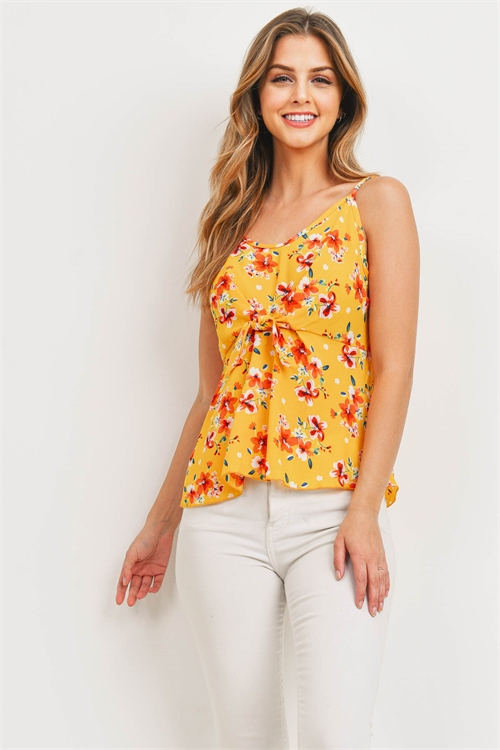 C16-B-2-T30517 YELLOW FLORAL TOP 2-2-2