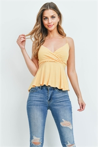 C80-A-2-T30009A IVORY YELLOW STRIPES TOP 2-2-2