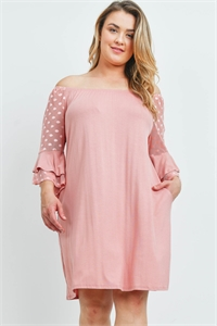 C28-A-1-D4309X BLUSH PLUS SIZE DRESS 1-1-1