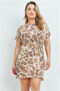 C28-A-1-D10661X BROWN TAUPE PLUS SIZE DRESS 2-1-2