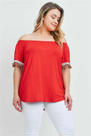 C24-B-2-T2110X RED PLUS SIZE TOP 2-2-2