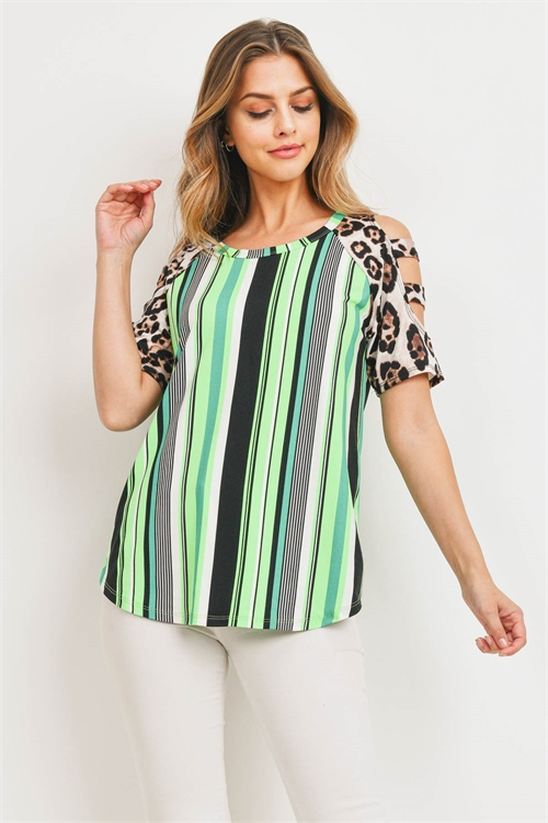 C56-A-1-T22082 NEON GREEN BLACK TOP 1-2-1