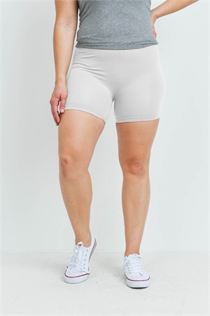SA4-7-3-FABS12603X WHITE PLUS SIZE SHORTS / 10PCS