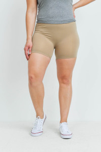 SA4-7-3-FABS12603X TAN PLUS SIZE SHORTS / 10PCS