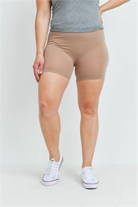 SA4-7-3-FAB12603X MOCHA PLUS SIZE SHORTS / 10PCS
