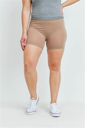 SA4-7-3-FABS12603X MOCHA PLUS SIZE SHORTS / 10PCS