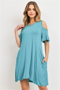 C62-A-3-D10533 TURQUOISE DRESS 2-2-2