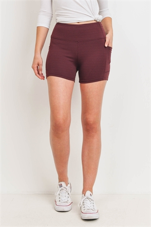 S11-13-4-S7001 BROWN BIKER SHORTS WITH POCKET 2-2-2