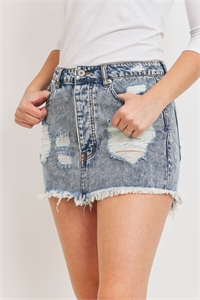 S9-8-3-S7120 BLUE DENIM SKIRT 3-2-1