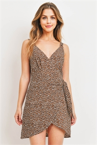 S11-9-4-D32949 BEIGE LEOPARD PRINT DRESS 3-2-1