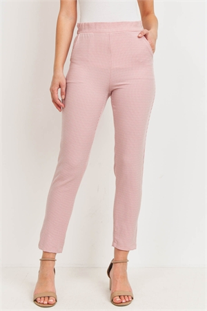 C50-A-3-P14720 IVORY MAUVE CHECKERED PANTS 2-2-2