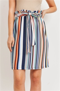 C72-B-1-S20636 MULTI STRIPES SKIRT 3-4