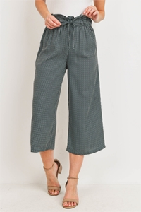 C68-A-1-P10640 GREEN CHECKERED PANTS 2-3