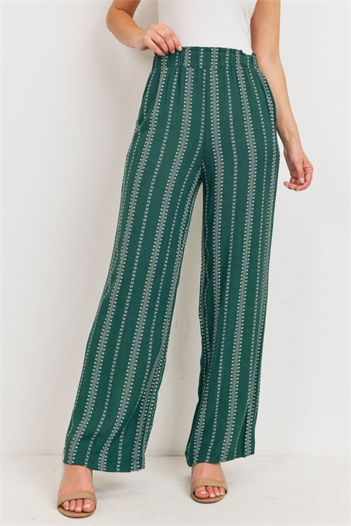 C64-A-1-P14653 GREEN WHITE PANTS 1-2-1