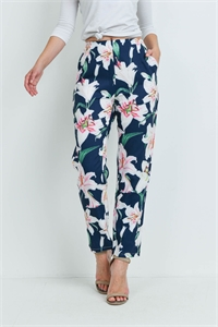 S9-1-4-P43 NAVY WHITE FLOWERS PANTS 2-3-2