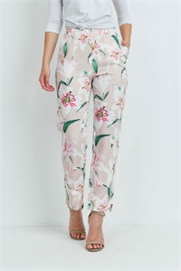 S9-1-4-P43 SAND WHITE FLOWERS PANTS 1-2-2