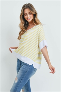 S9-5-2-T5059 WHITE YELLOW STRIPES TOP 3-3