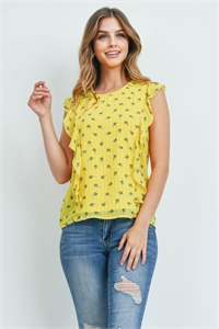 S9-4-4-T1905 YELLOW PRINT TOP 2-2-2