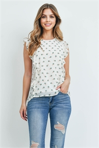 S9-4-4-T1905 OFF WHITE PRINT TOP 2-2-2