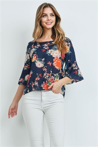 S9-10-4-T016205 NAVY FLORAL TOP 3-3