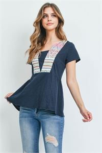 S14-11-3-T2050 NAVY IVORY TOP 2-2-2