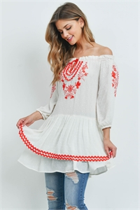 S11-19-1-D5140 OFF WHITE RED TOP 2-2-2
