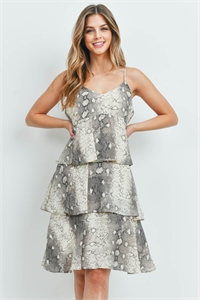 S11-16-2-D5187 TAUPE PRINT DRESS 2-2-2