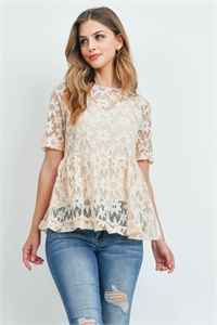 C86-A-2-T71758 LIGHT PEACH TOP 2-2-2