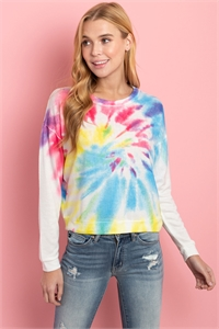 S8-14-3-T1625 MULTI COLOR TIE DYE TOP 2-2-1-1