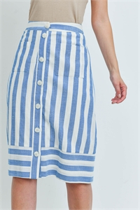 S10-15-3-S6147 BLUE WHITE STRIPES SKIRT 3-2-2