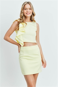 S11-15-4-SET1233649 YELLOW TOP & SKIRT SET 2-2-2