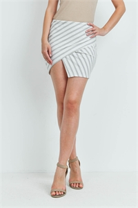 S14-5-2-S1790 OFF WHITE STRIPES SKIRT 2-2-2