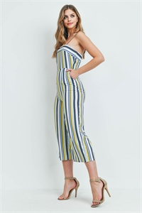 S14-4-2-J1652 WHITE BLUE STRIPES JUMPSUIT 2-2-2