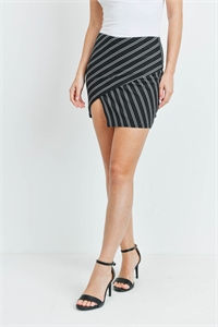 C22-A-2-S1790F BLACK STRIPE SKIRT 2-2-1