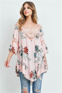 S14-4-3-T772 PEACH WITH FLOWER TOP 3-3