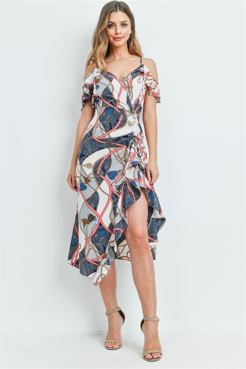 S14-8-2-D1003 OFF WHITE NAVY PRINT DRESS 2-2-3