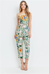 S14-7-2-J2172 PINK YELLOW FLOWER JUMPSUIT 3-2-2