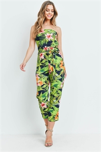 S13-12-4-J2172 NAVY GREEN FLOWER JUMPSUIT 2-2-2