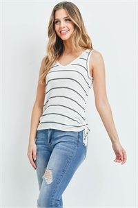 C58-A-1-T3932 WHITE BLACK STRIPES TOP 1-3-2-1