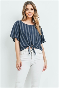 C28-B-1-T72231 NAVY STRIPES TOP 2-2-2