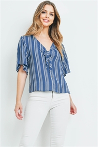 C28-A-1-T72442 NAVY WHITE STRIPES TOP 2-2