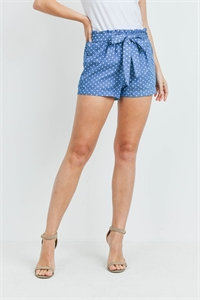 C52-B-1-S14315 BLUE POLKA DOTS SHORTS 2-2-2