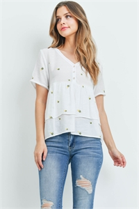 S5-3-3-T00935 OFF WHITE EMBROIDERY TOP 1-2-2-1