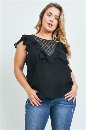 S8-5-4-T10229X BLACK PLUS SIZE TOP 2-2-2
