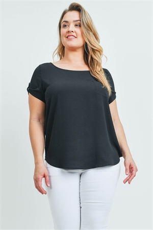 S8-9-4-T10235X BLACK PLUS SIZE TOP 2-2-2