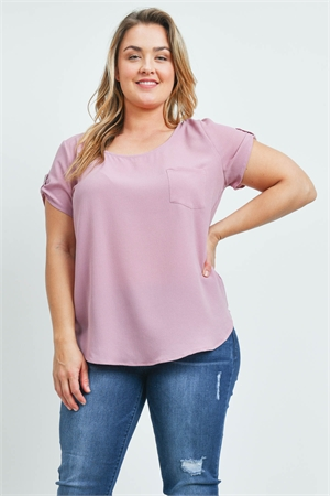 S8-9-4-T10235X MAUVE PLUS SIZE TOP 2-2-2